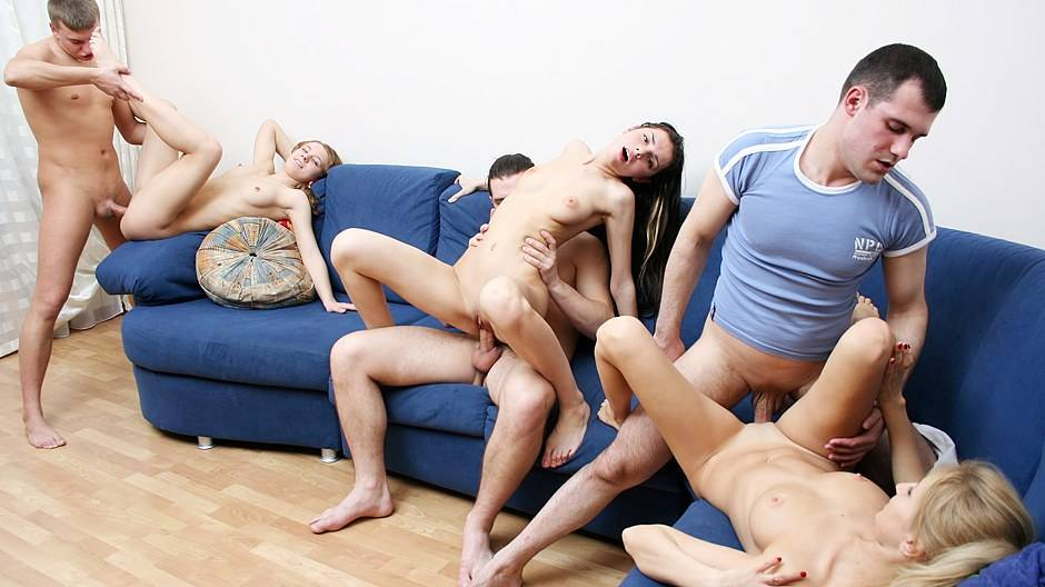 Badass college chicks throw a crazy sex party