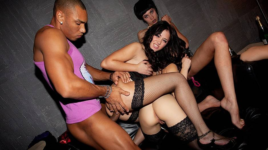 Super sexy students party with horny girls