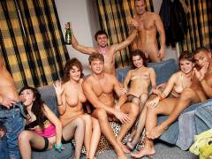 Hard student anal sex at B-day fuck party