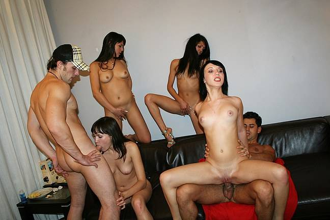 Extremely hot group orgy with horny coeds