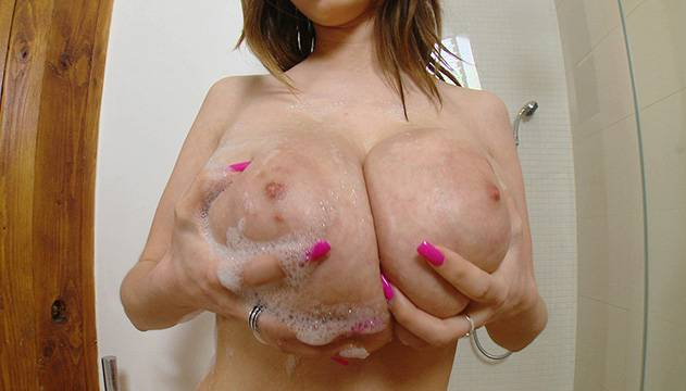 Big tits in action