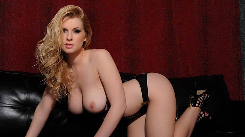 Jess Davies in her sexy leopard lingerie