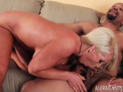 Alura Jenson is Fucked Hard by Diamond Lou Interracial