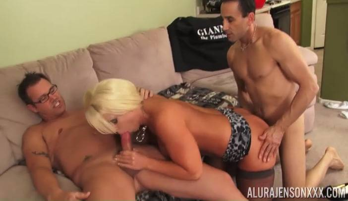 Alura Jenson Takes on Two Cocks Tommy Utah and Gianni Plumber