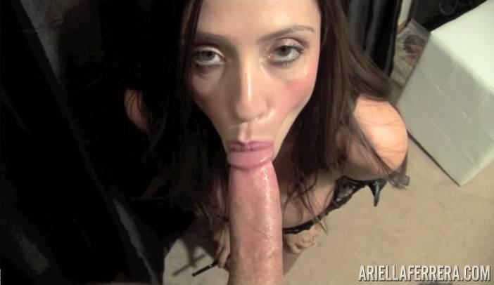 Ariella Ferrera Smokes and Sucks Cock