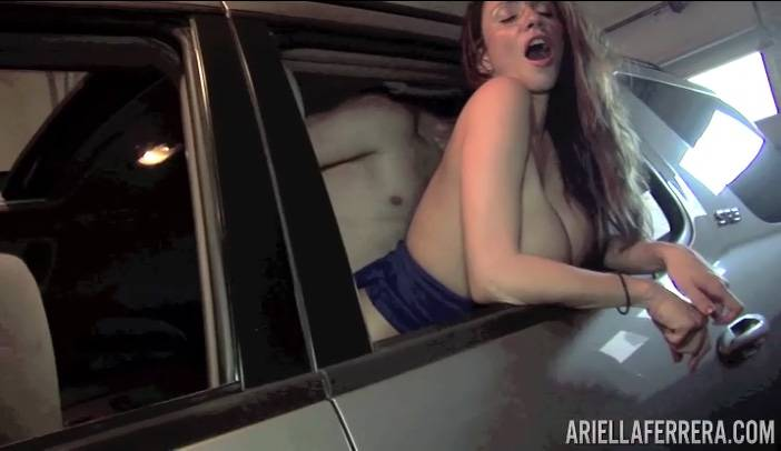 Ariella Ferrera Hot Car Sex