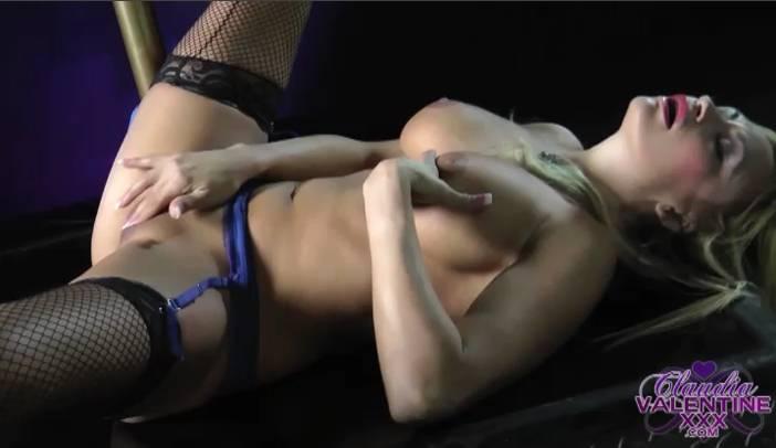 Claudia Masturbating stockings
