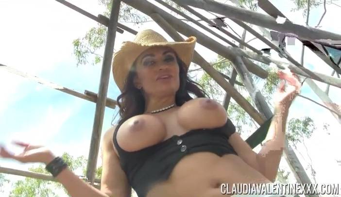 Claudia Valentine In Cowgirl Chaps