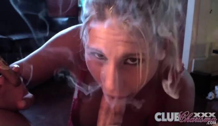 Charisma Cappelli Cigar Smoking Cock Sucker