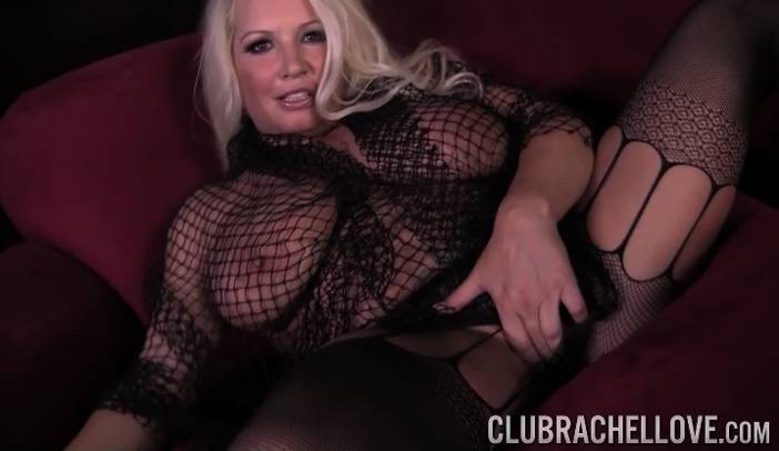 Rachel Love Solo in Fishnet Body Suit