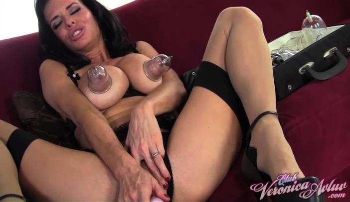 Veronica Avluv Suction Cup Tit Toys in Stockings