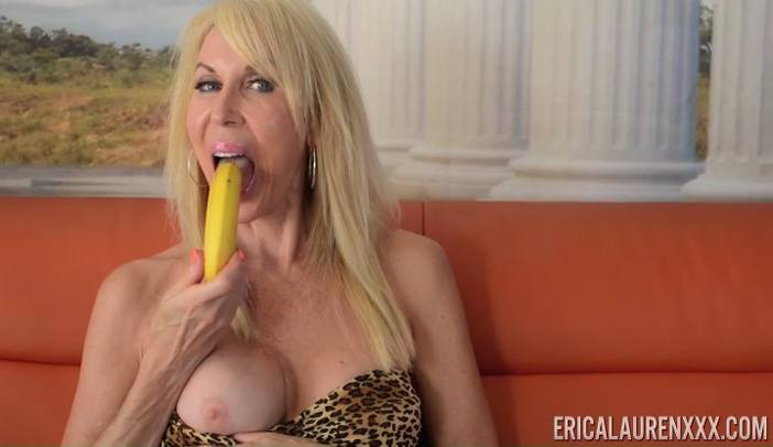 Ericka Lauren with Banana