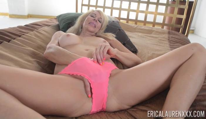 Erica Lauren in Tiger Dress and Pink Panties