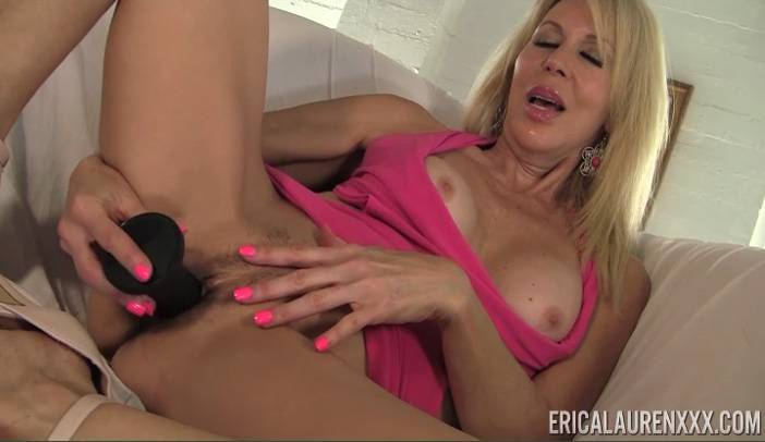 Ericka Lauren Masturbating with Black Dildo