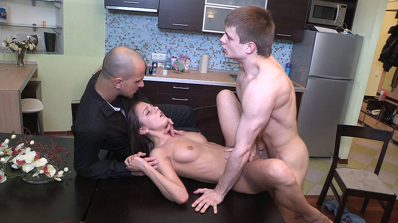Staying home for her first paid fuck