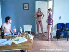 Four naughty roommates