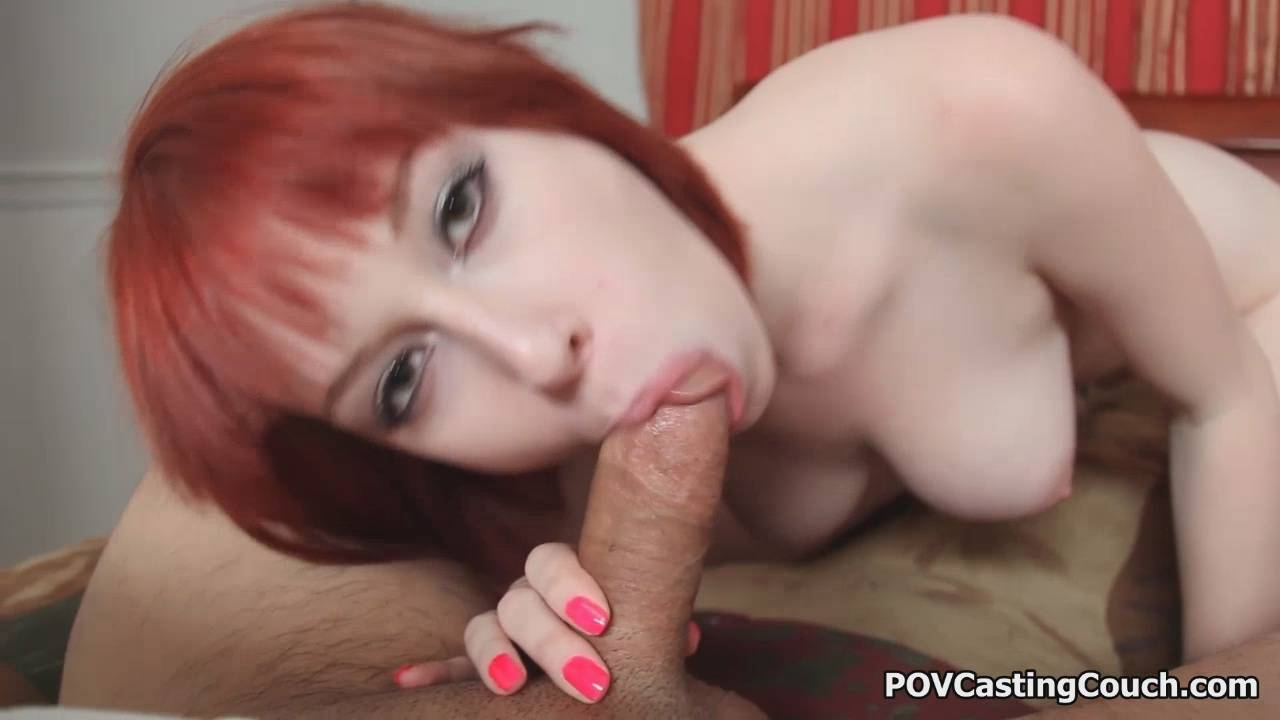 Red Head Zoey Nixon Sucks Dick on the POV Casting Couch