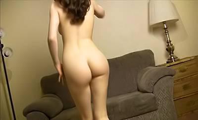 Horny European Girl Dances Butt Naked