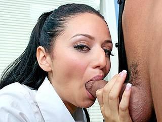 Marissa Gets A Mouthful with Marissa Mendoza