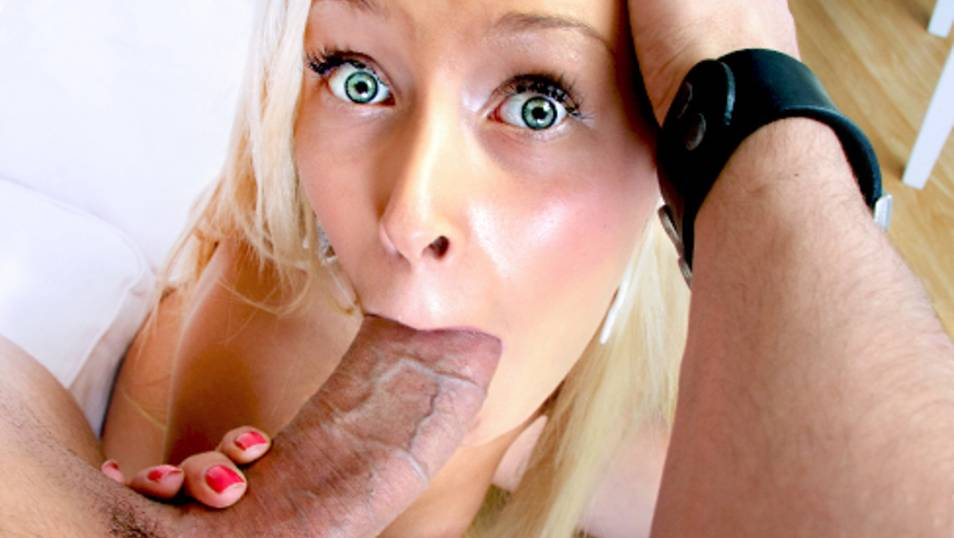 Blonde Babe Inna Antipine Chokes On A Cock