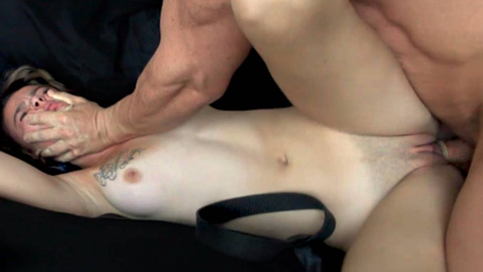 Her tight emo's pussy is destroyed by a big tough guy