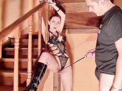 Sex lovers play BDSM games