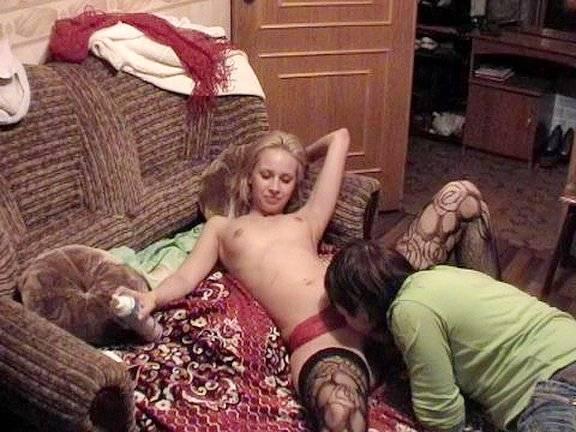 Blondie getting pleasure from anal