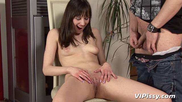 Pussy dripping with boyfriends fresh pee