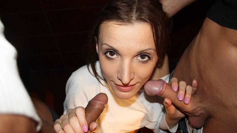 Cute brunette enjoys sex