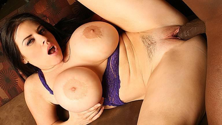 Interracial hot sex with busty Daphyne Rosen