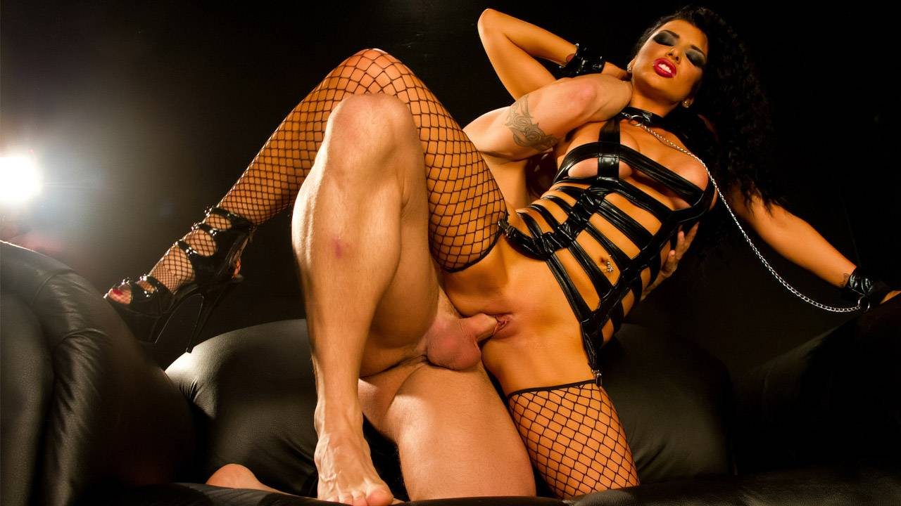 Romi Rain is chained and roughed