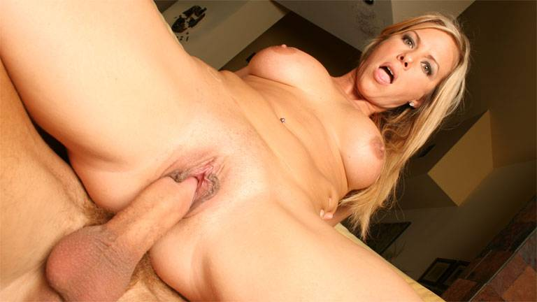 Mature blonde Kayla Synz riding cock like mad